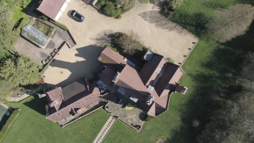 Aerial Video / Drone Property for Sale Pinfield House Barnt Green