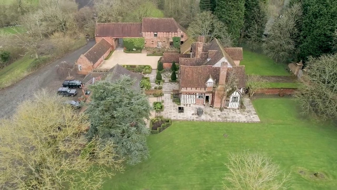 Aerial Wedding Video Gorcott Hall